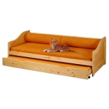 Dřevěná postel z masivu s přistýlkou